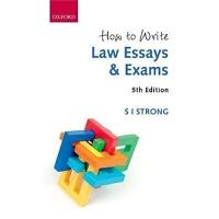 预订How to Write Law Essays & Exams