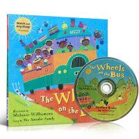 全店满300减100】The Wheels on the Bus(附CD)廖彩杏推荐Barefoot Books系列Me