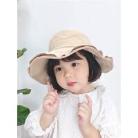儿童百搭休闲宝宝渔夫帽遮阳帽潮新款春夏季波浪女童盆帽