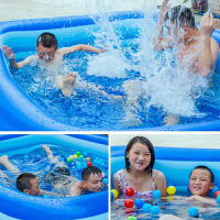 小孩子的游泳池婴儿童游泳池充气家庭宝宝家用海洋球池加厚超大号儿童室外戏水池