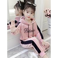 2019秋冬季新款韩版儿童中大童洋气两件套童装女童套装