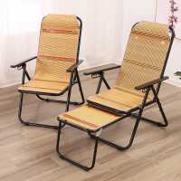 躺椅折叠午休家用老人夏天阳台乘凉午睡竹椅办公折叠靠背椅竹躺椅