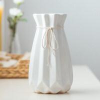 创意时尚小清新落地客厅摆件家居装饰品陶瓷干花花器假花花瓶花艺情人节礼物 中等