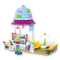 小鲁班粉色梦想女孩拼装积木 6-14岁儿童DIY拼插组合情景玩具 亲子互动过家家积木玩具兼容乐高