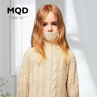 【1件3折:150】MQD童装女童加厚毛衣冬季新款韩版高领保暖多色羊毛衫宽松针织衫