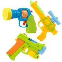 儿童玩具枪2岁 1-2-3岁小孩电动音乐枪声光小男孩耐摔儿童玩具宝宝玩具枪 小+乐乐枪+警察枪=3把 送2套电池+螺丝