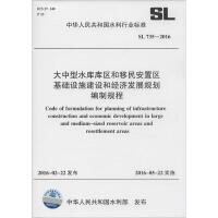 大中型水库库区和移民安置区基础设施建设和经济发展规划编制规程:SL 735-2016 中华人民共和国水利部 发布