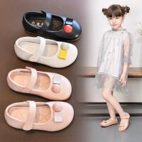 儿童鞋宝宝皮鞋女童公主鞋秋季软底单鞋浅口中小童黑色