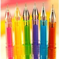 开学必备文具 韩国文具 韩酷920钻石笔 彩虹中性笔 18色钻石彩色水性笔 0.5mm