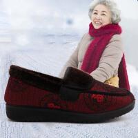 老人棉鞋女软底加绒加厚妈妈保暖老北京布鞋女冬奶奶老年人鞋