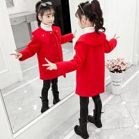 儿童中长款加绒加厚洋气外套2019新款韩版女童中大童秋冬装外套