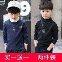 中大童毛衣4-14岁秋冬童装男童打底衫套头儿童针织衫 2件装+