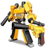 变形金刚玩具 儿童玩具大黄蜂金属合金擎天柱机器人 手动变形枪收藏模型生日礼物