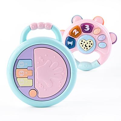婴儿玩具手摇铃0-1岁男宝宝6抓握训练3早教益智幼儿童女孩