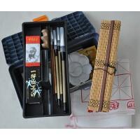 国画颜料工具17件套装画笔 笔墨纸砚俱全 书法毛笔练习必备 国画套装