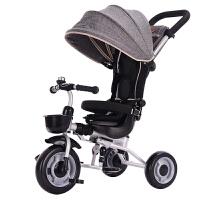 儿童车三轮脚踏车儿童脚踏三轮车1-3周岁宝宝婴幼儿小孩轻便折叠手推脚蹬车QL-57 Gray ● 浅灰色