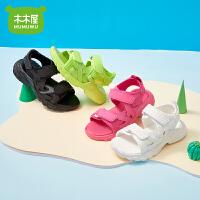 木木屋儿童凉鞋男童女童新款时尚女童鞋凉鞋公主中大童(32-37码)沙滩夏季凉鞋2599