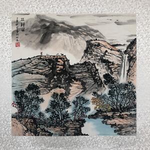 中国国际书画艺术研究会会员  唐仕杰(牧归图)已托裱ZH101