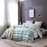 贝赛亚四件套 莱赛尔天丝床单款双人床品件套 丽香寻梦