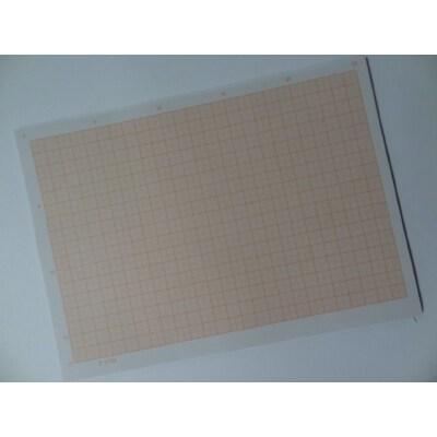 【京潮港v图纸/白图纸】桔红色计算纸A4方格纸十字绣花瓶钟图纸图片