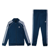 Adidas阿迪达斯三叶草男童装2019春季新款运动休闲服套装4-10岁小童DV2854