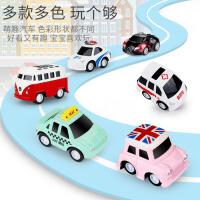 合金小汽车玩具回力车男孩儿童宝宝玩具车小车模型套装一1-2-3岁