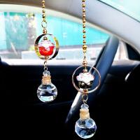 汽车后视镜挂件招财猫车载挂式香水香薰淡香女车内装饰品摆件吊坠