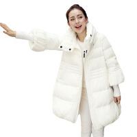新款棉衣女秋冬季韩版宽松A字袄中长款孕妇羽绒