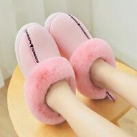 冬季新款棉拖鞋女家居家室内情侣保暖舒适厚底月子家用棉鞋男冬天