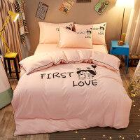 大学生床单被罩枕套三件套床上用品学生宿舍单人女生四件套女寝室