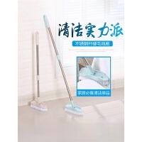 可伸缩长柄地板刷子硬毛刷浴室瓷砖洗厕所去死角卫生间清洁刷神器