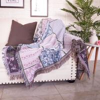 北欧几何图案加厚沙发毯子沙发巾双人座垫全盖防滑线毯桌布地垫定制