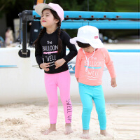 男童冲浪服小中大女童游泳衣儿童长袖长裤泳衣套装