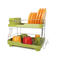 双层收纳碗筷晾放碗碟架沥水架收纳架厨房用品厨具置物架