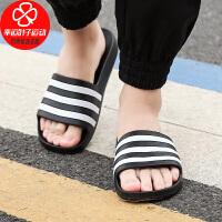 Adidas/阿迪达斯男鞋新款户外运动休闲沙滩鞋一字拖鞋舒适轻便凉拖鞋F35543