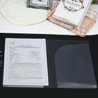富得快3152双袋文件夹 A4半透明双侧插袋 办公彩色资料夹 双袋文件夹 两页折文件袋 20个/包双插袋彩色文件夹 口