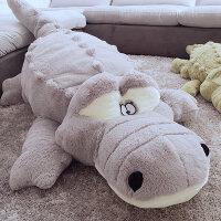 超大号鳄鱼毛绒玩具超柔软趴趴公仔可爱玩偶睡觉抱枕长条枕娃娃床上枕头