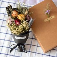 干花花束小清新礼物风干薰衣草满天星永生花送闺蜜干花礼盒 干花包