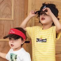 儿童太阳帽韩版潮棒球帽2019夏季中小童遮阳帽鸭舌帽平檐帽
