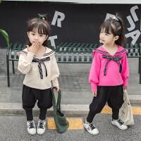 2019新款中小童女宝宝两件套小女孩休闲童装女童洋气秋装套装