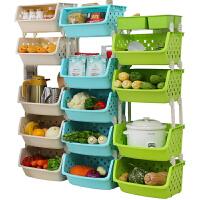 厨房置物架放蔬菜篮子落地多层用品储物筐玩具收纳箱神器家用大全
