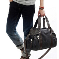 旅行包男包 韩版男士斜挎背包潮休闲单肩包帆布包学生包书包
