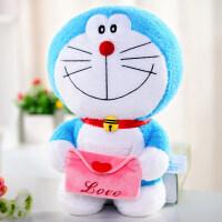 哆啦a梦公仔机器猫儿童玩具毛绒小叮当猫布娃娃生日礼物女孩 信封