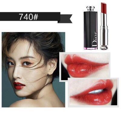 【专柜正品】 Dior/迪奥口红魅惑釉唇膏黑管漆光唇釉740/744 【专柜供货,正品保证】