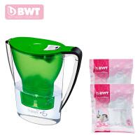 BWT倍世厨房家用净水壶直饮便携户外净水壶过滤净水器净水杯2.7升 阻垢款 一壶三滤芯 紫色 蓝色 橙色 白色 绿色