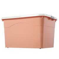 特大号塑料收纳箱子衣服棉被整理储物箱家用有盖储蓄箱子清仓