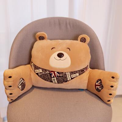 笨笨熊办公室汽车卡通靠垫靠背孕妇座椅护腰靠枕床上垫抱枕  笨笨熊护腰靠垫60*26*10cm
