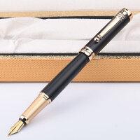 毕加索 PS-951铱金钢笔 亚黑金夹 笔杆 笔尖0.5mm 泰勒士系列 成人商务办公用学生练字书法墨水笔 礼盒装 当