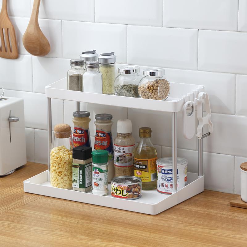 家用置物架厨房用品调味料小百货收纳架洗手间化妆品多功能收纳架 智慧家居.