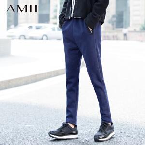 AMII[极简主义] 新大码抽绳橡筋加绒长裤11572173